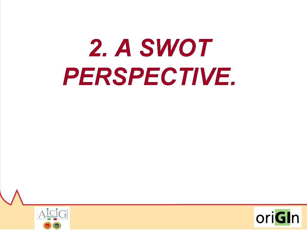 2. A SWOT PERSPECTIVE.