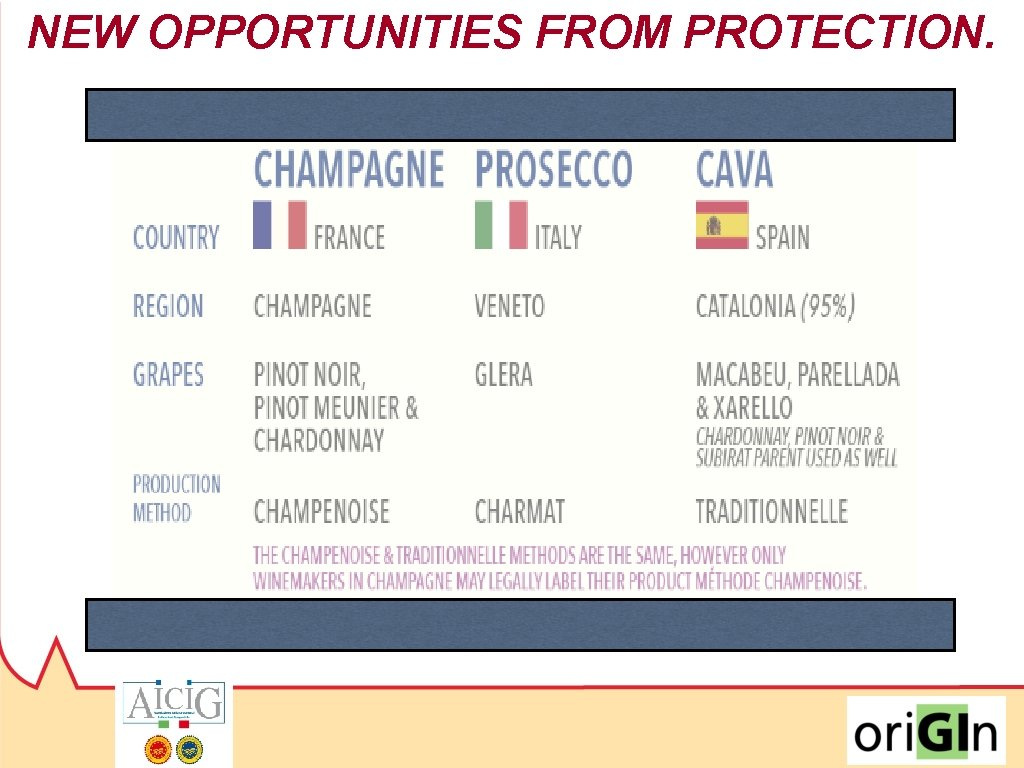 NEW OPPORTUNITIES FROM PROTECTION.