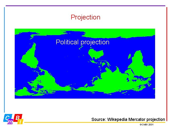Projection Gnomonic projection: Correct distances Fuller projection; Unfolded Dymaxion map Political projection Source: Wikepedia