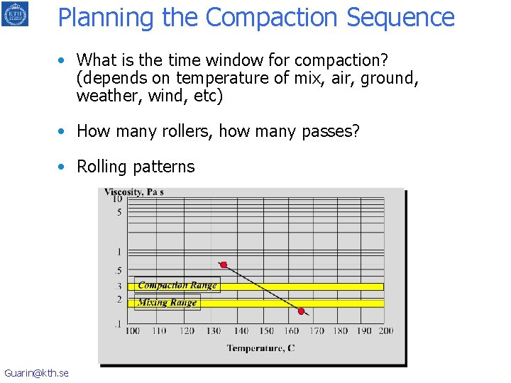 Planning the Compaction Sequence • What is the time window for compaction? (depends on