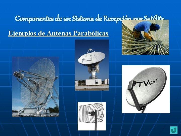 Componentes de un Sistema de Recepción por Satélite Ejemplos de Antenas Parabólicas