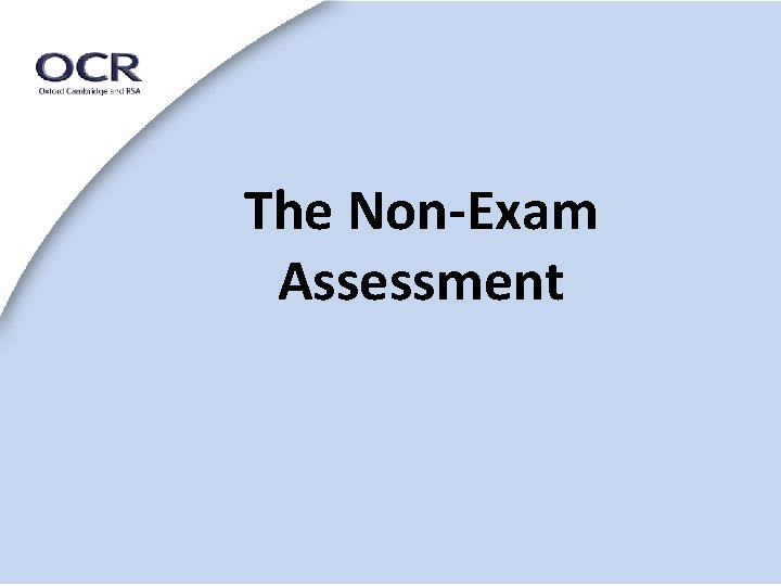 The Non-Exam Assessment