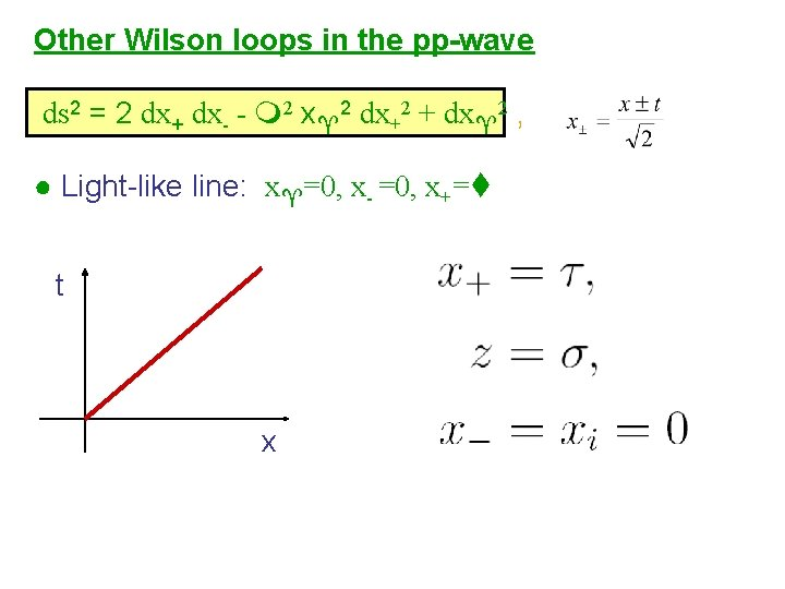 Other Wilson loops in the pp-wave ds 2 = 2 dx+ dx- - 2