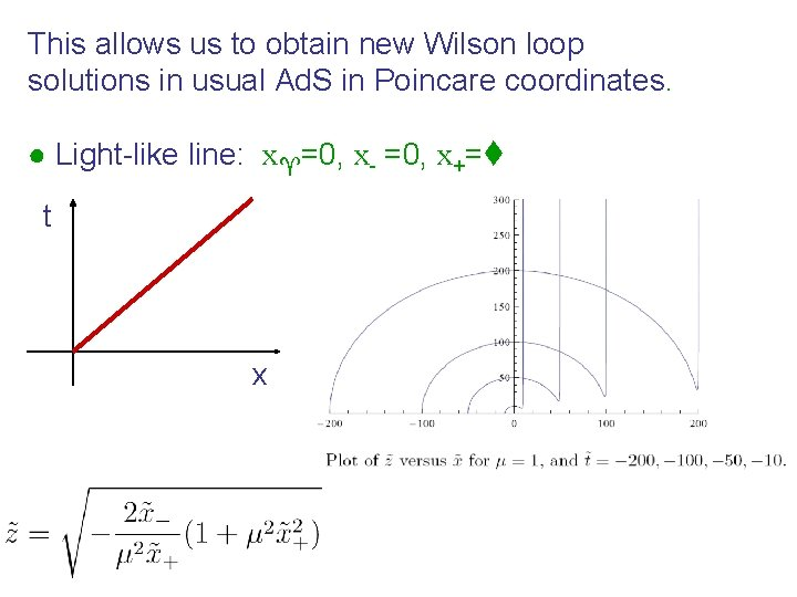 This allows us to obtain new Wilson loop solutions in usual Ad. S in
