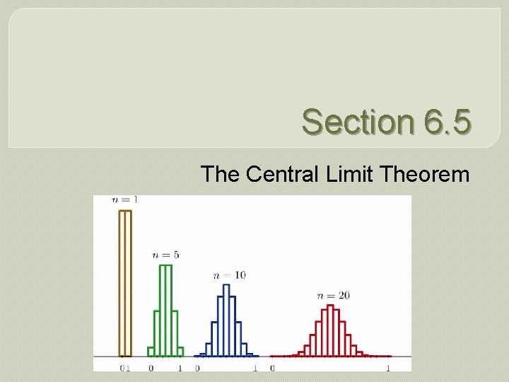 Section 6. 5 The Central Limit Theorem