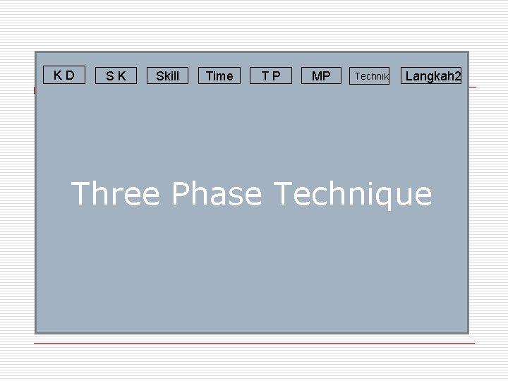 KD SK Skill Time TP MP Technik Langkah 2 Three Phase Technique