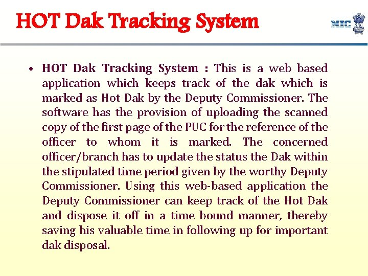 HOT Dak Tracking System • HOT Dak Tracking System : This is a web