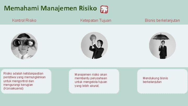 Memahami Manajemen Risiko Kontrol Risiko adalah ketidakpastian peristiwa yang memungkinkan untuk mengontrol dan mengurangi
