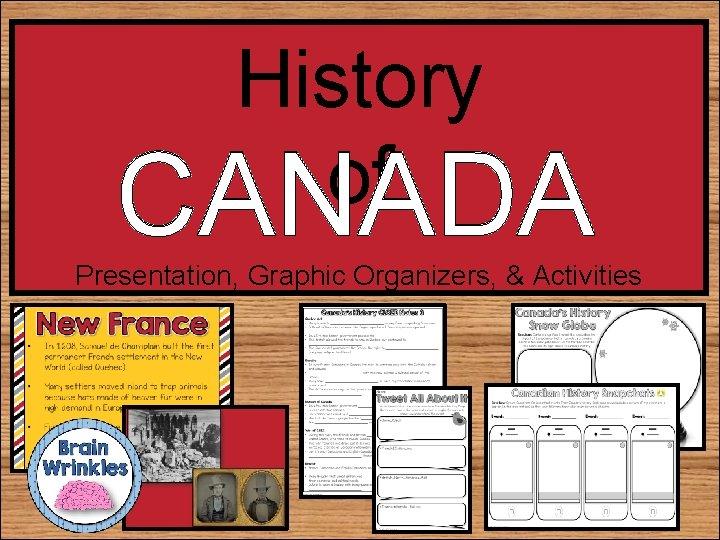 History of CANADA Presentation, Graphic Organizers, & Activities