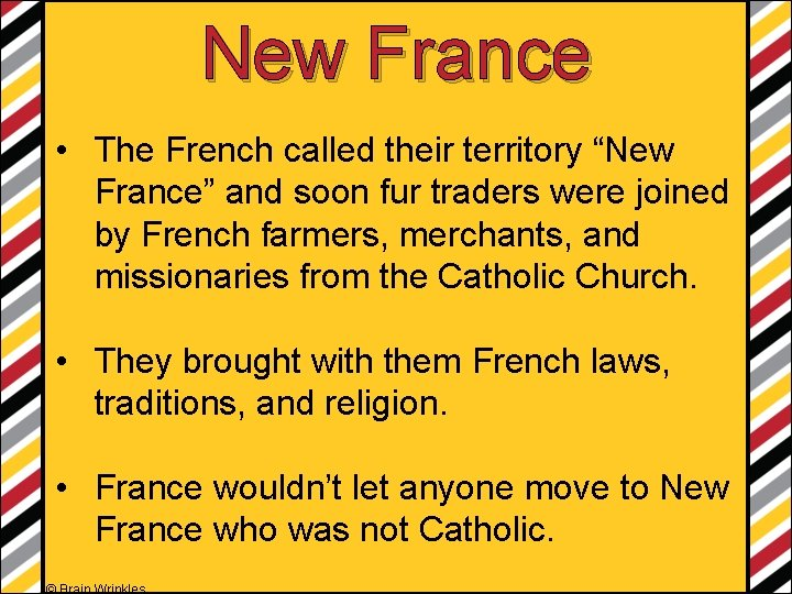 """New France • The French called their territory """"New France"""" and soon fur traders"""