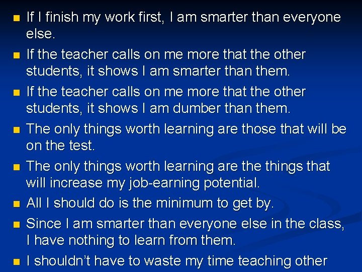 n n n n If I finish my work first, I am smarter than