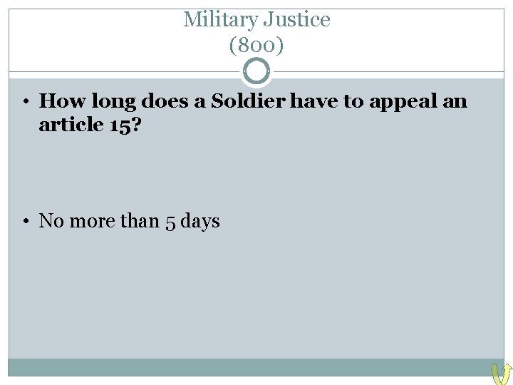 Military Justice (800) • How long does a Soldier have to appeal an article