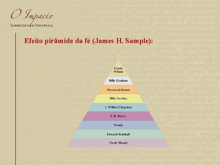 Efeito pirâmide da fé (James H. Sample):