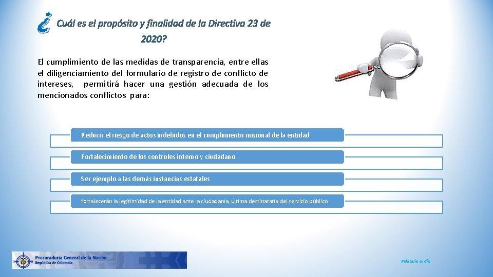 ¿ Cuál es el propósito y finalidad de la Directiva 23 de 2020? El