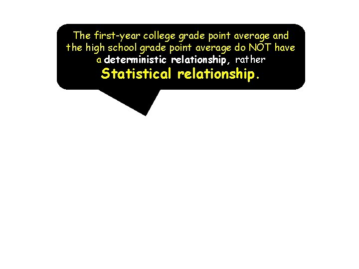 The first-year college grade point average and the high school grade point average do