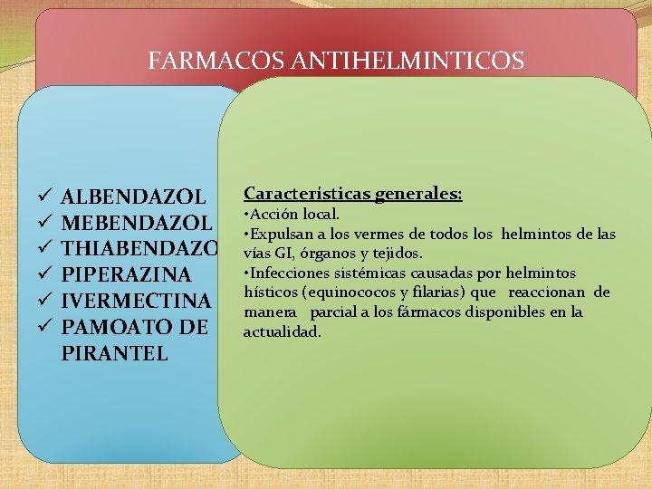 antihelminticos definicion