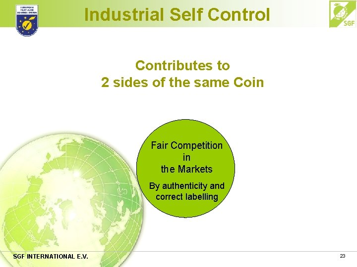 Industrial Self Control Contributes to 2 sides of the same Coin Fair Competition in