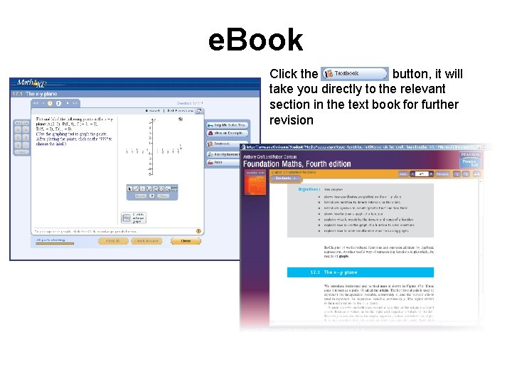 e. Book Click the button, it will take you directly to the relevant section