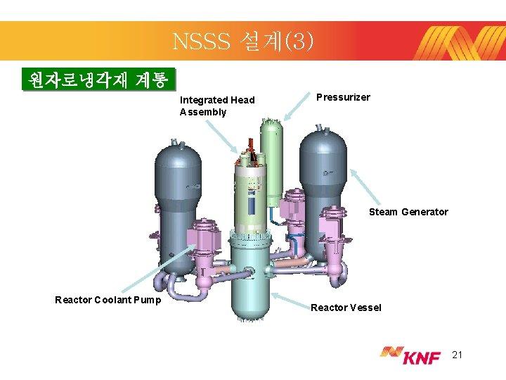 NSSS 설계(3) 원자로냉각재 계통 Integrated Head Assembly Pressurizer Steam Generator Reactor Coolant Pump Reactor