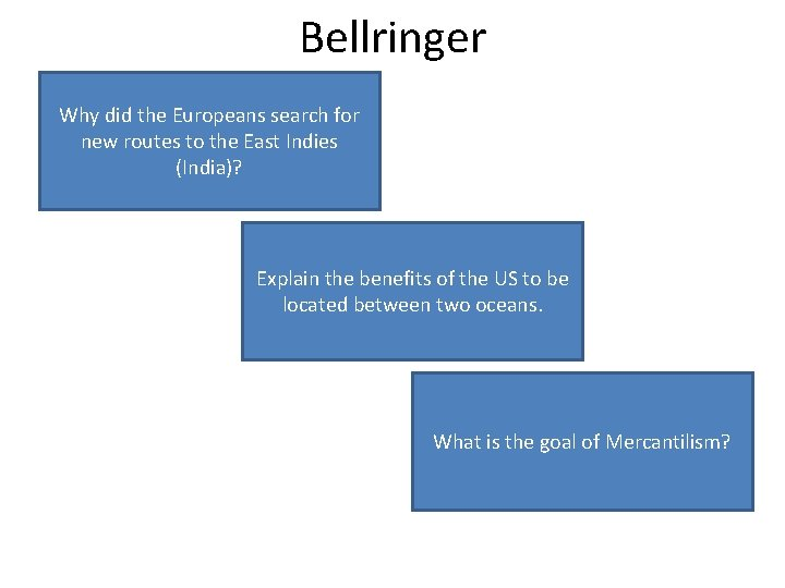 Bellringer Why Europeans search Todid cut the out the middle men whofor new to