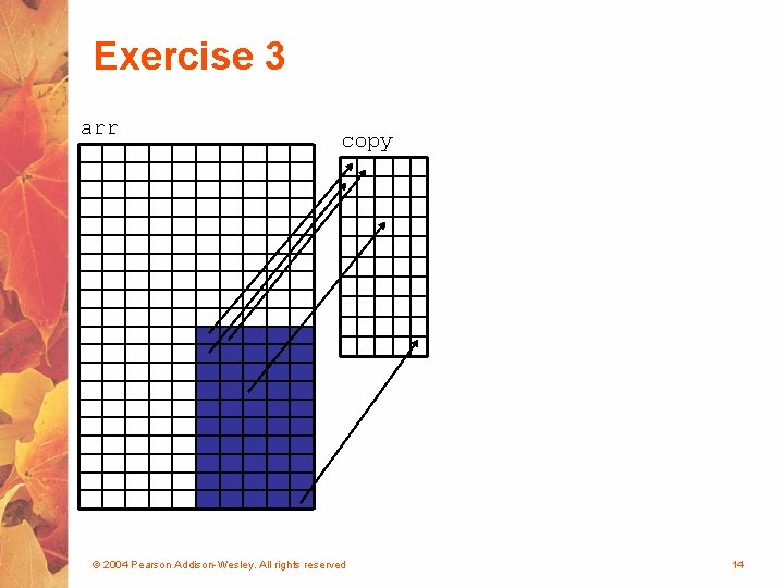 Exercise 3 arr copy © 2004 Pearson Addison-Wesley. All rights reserved 14