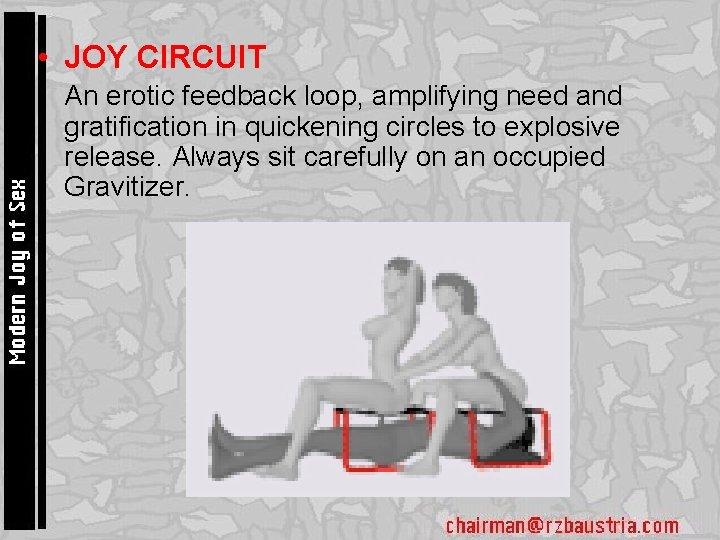 • JOY CIRCUIT • An erotic feedback loop, amplifying need and gratification in