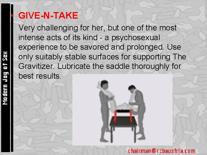 • GIVE-N-TAKE • Very challenging for her, but one of the most intense