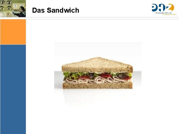 Das Sandwich Sache Bedingungen Bedeutung & Sinn Thematik Lernziele Arrangements Ergebnissicherung Evaluation