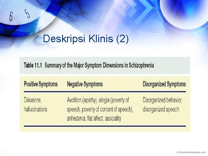 Deskripsi Klinis (2)
