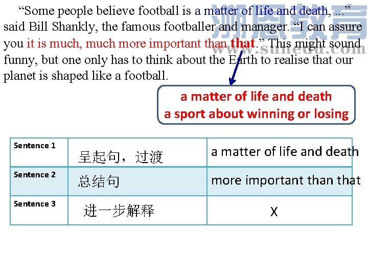 """""""Some people believe football is a matter of life and death, . . ."""