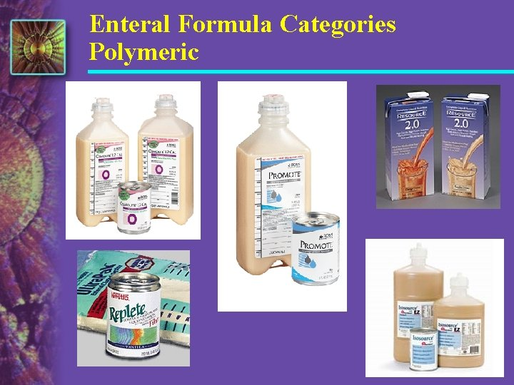 Enteral Formula Categories Polymeric