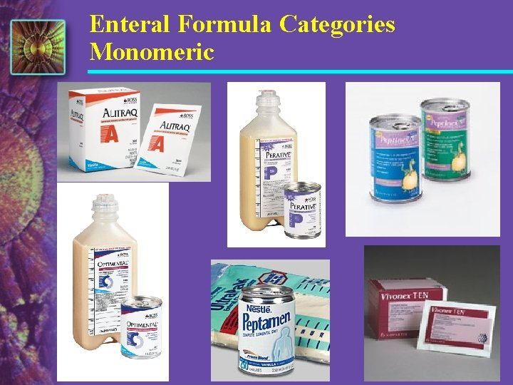 Enteral Formula Categories Monomeric