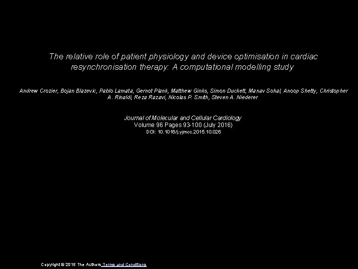 The relative role of patient physiology and device optimisation in cardiac resynchronisation therapy: A