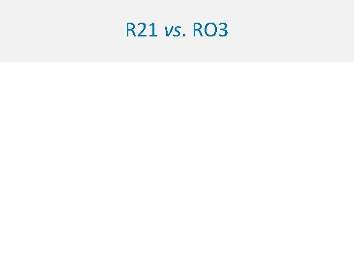 R 21 vs. RO 3