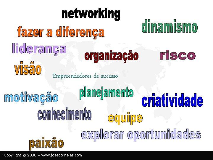 Empreendedores de sucesso Copyright © 2008 – www. josedornelas. com