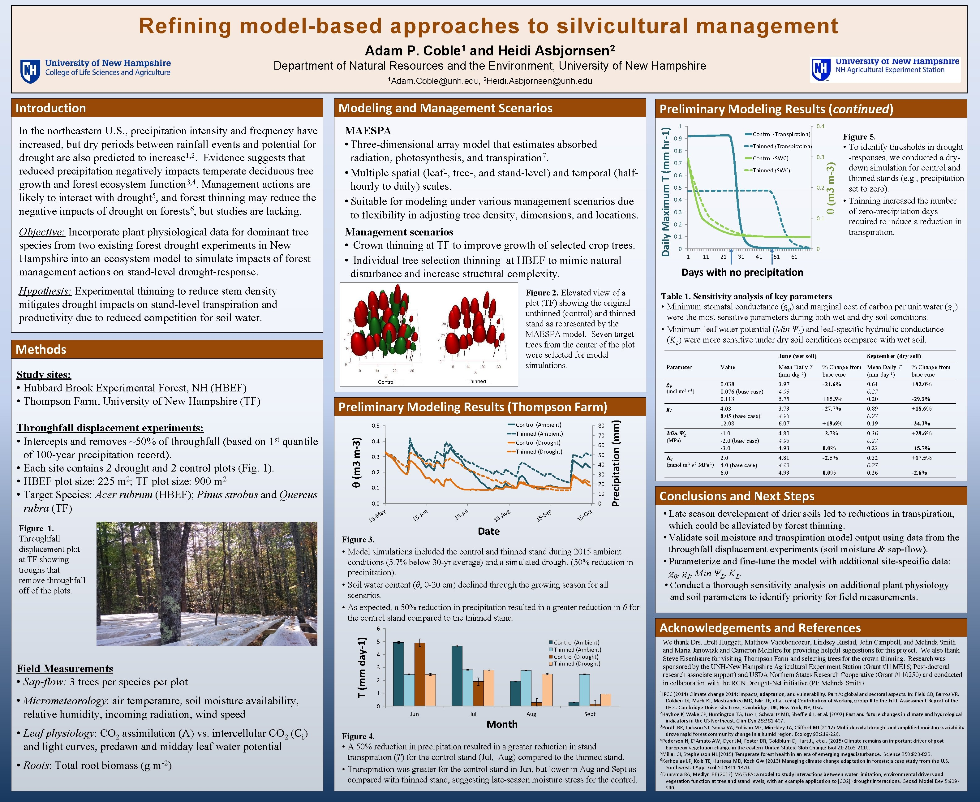 Refining model-based approaches to silvicultural management Adam P. Coble 1 and Heidi Asbjornsen 2