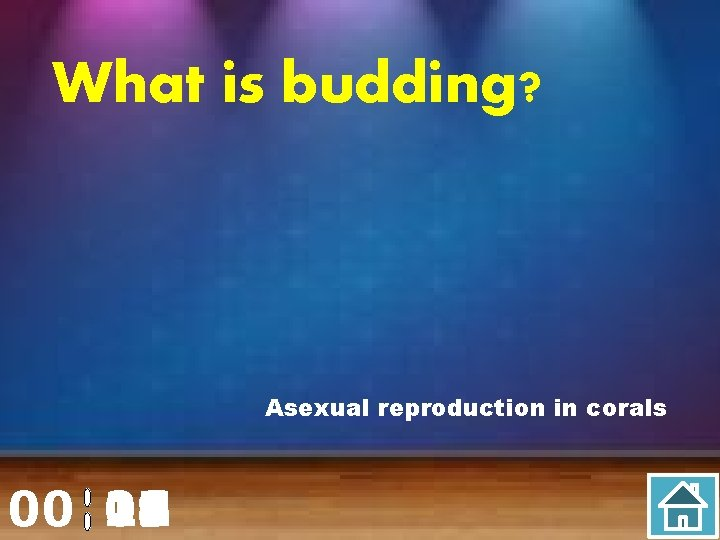 What is budding? Asexual reproduction in corals 00 20 00 01 02 03 04