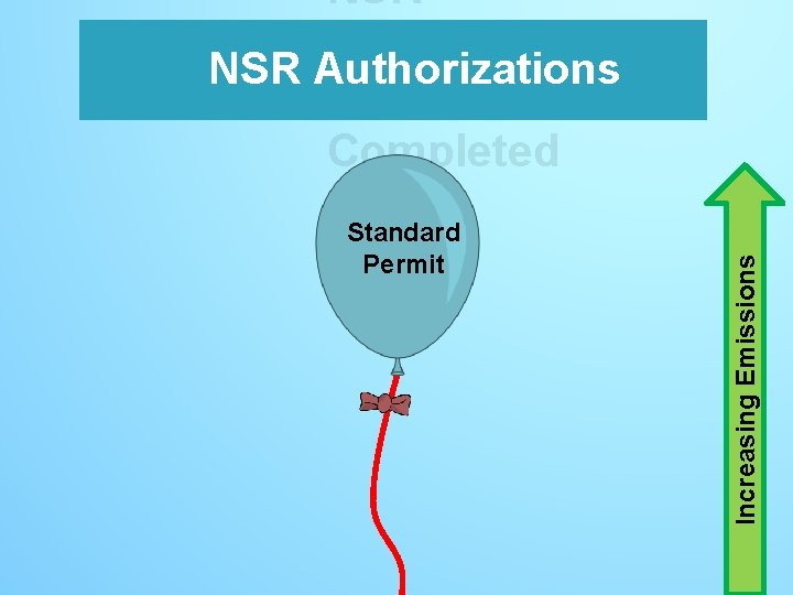 Standard Permit Increasing Emissions NSR Authorizations s– Completed