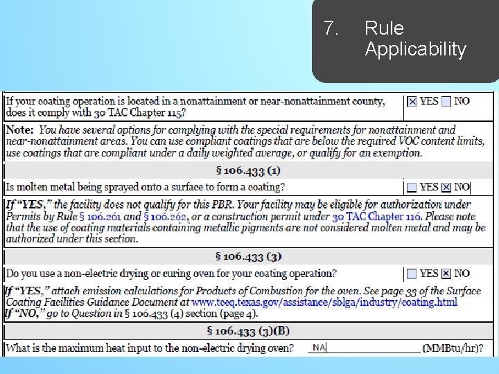 7. Rule Applicability