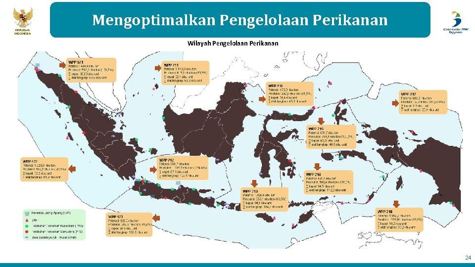 REPUBLIK INDONESIA Mengoptimalkan Pengelolaan Perikanan Wilayah Pengelolaan Perikanan 24