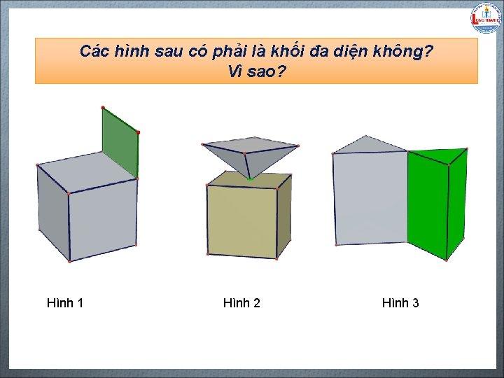 Các hình sau có phải là khối đa diện không? Vì sao? Biên soạn: