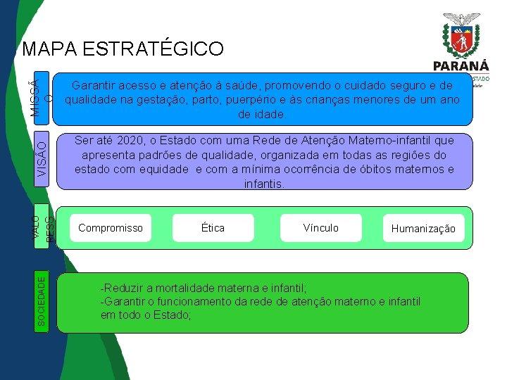 SOCIEDADE RESS MISSÃ O Ser até 2020, o Estado com uma Rede de Atenção