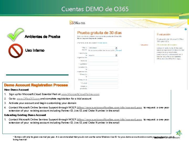 Cuentas DEMO de O 365 New Demo Account 1. Sign up for Microsoft Cloud