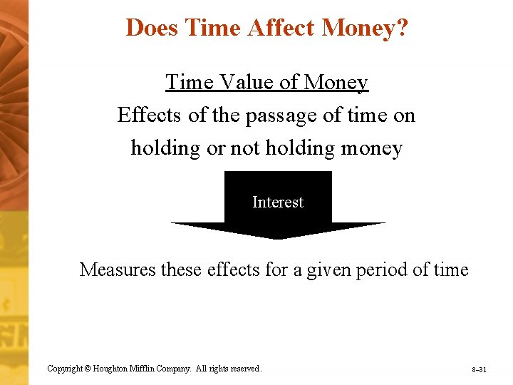 Does Time Affect Money? Time Value of Money Effects of the passage of time