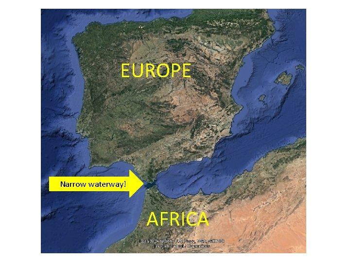 EUROPE Narrow waterway! AFRICA