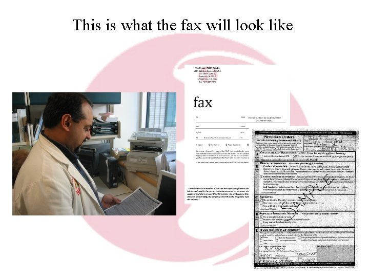 This is what the fax will look like