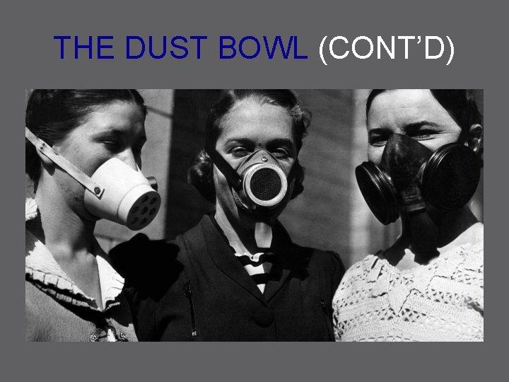 THE DUST BOWL (CONT'D)