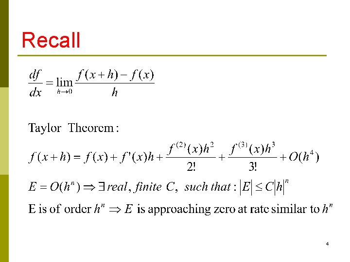 Recall 4