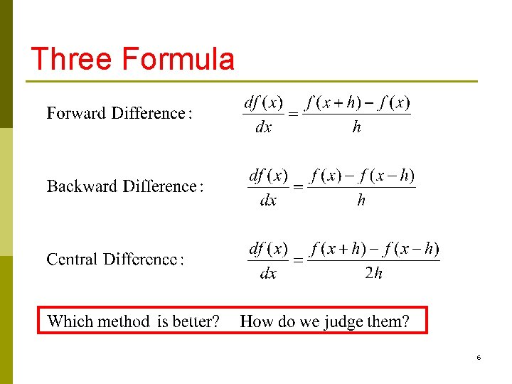 Three Formula 6