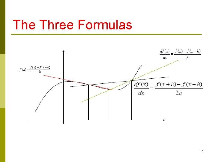 The Three Formulas 7